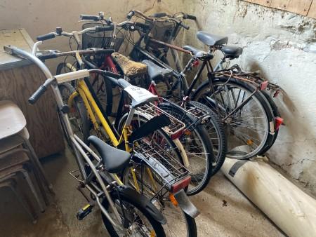 6 stk. cykler + anhænger