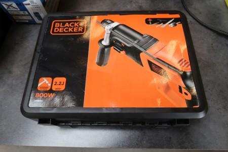 Slagbor maskine, mærke: Black & Decker