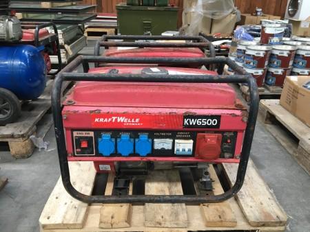 Generator, mærke: KraftWelle, model: KW6500