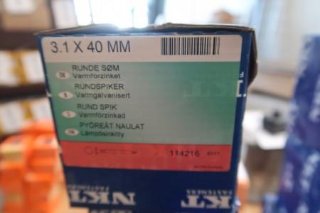 5 kasser søm