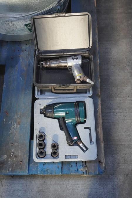 Slagnøgle, mærke: Bosch + lufthammer, mærke: Kawasaki