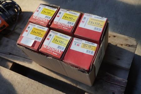 6 kasser betonskruer