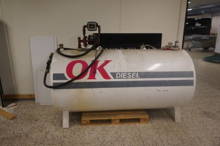 Diesel tank med EL pumpe & tæller samt auto pistol