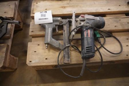 Klammepistol + stiksav, Mærke: Bosch