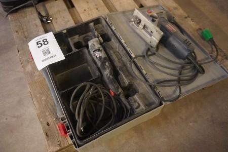 Finecutter + stiksav, Mærke: Würth & Bosch