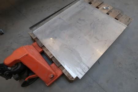 2 stk. rustfri stålplader